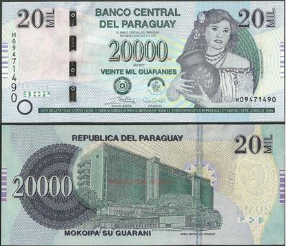 Picture of Paraguay,P238,B862c,20 000 Guarani,2017,series H