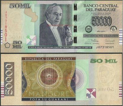 Picture of Paraguay,P239,B863c,50 000 Guarani,2017,J
