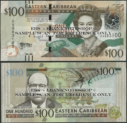 Picture of East Caribbean States,P55b,B239b,100 Dollars,2015
