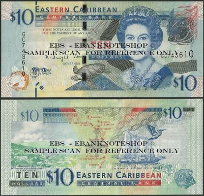 Picture of East Caribbean States,P52b,B236b,10 Dollars,2015