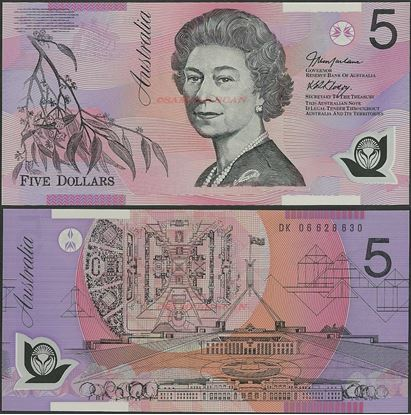 Picture of Australia,P57,B225d,5 Dollars,2006