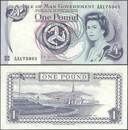 Picture of Isle of Man,P40,B114c,1 Pound,2009,AA