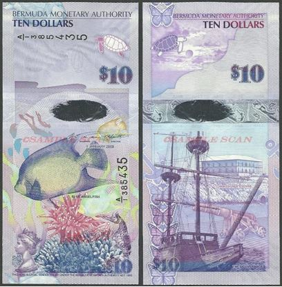 Picture of Bermuda,P59,B232b,10 Dollars,2019,A/1 Prefix