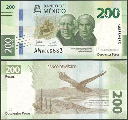 Picture of Mexico,B722,200 Pesos,2019,Comm,Sg 1,AW