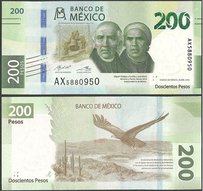 Picture of Mexico,B722,200 Pesos,2019,Comm,Sg 2,AX