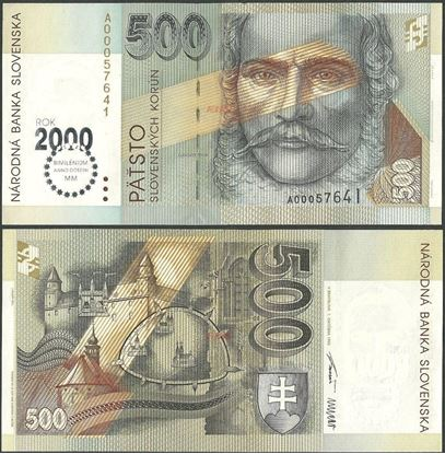 Picture of Slovakia,P38,B418,500 Koruna,2000 Comm