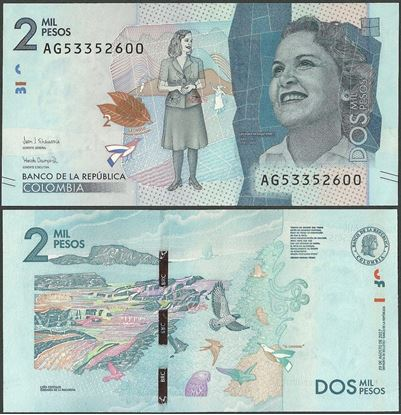 Picture of Colombia,P458c,2000 Pesos,2017,AG