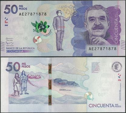 Picture of Colombia,P462b,50 000 Pesos,2016,AE