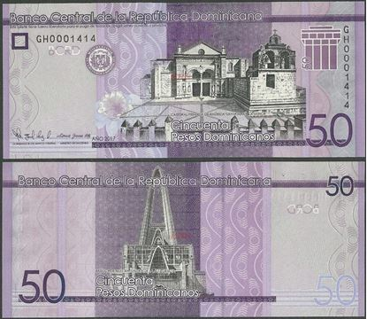 Picture of Dominican Republic,PNew,B727,50 Pesos Dominicanos,2017