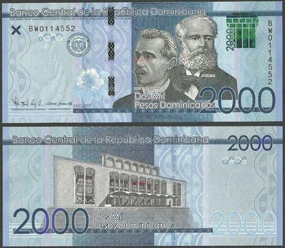 Picture of Dominican Republic,PNew,B732,2000 Pesos Dominicanos,2017