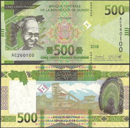 Picture of Guinea,B341.5,500 Francs,2019