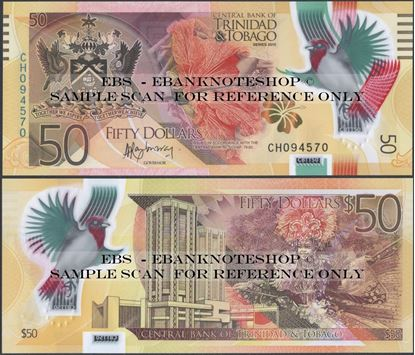 Picture of Trinidad & Tobago,P56,B235a,50 Dollars,2015