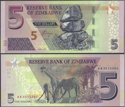Picture of Zimbabwe,B193,5 Dollars,2019