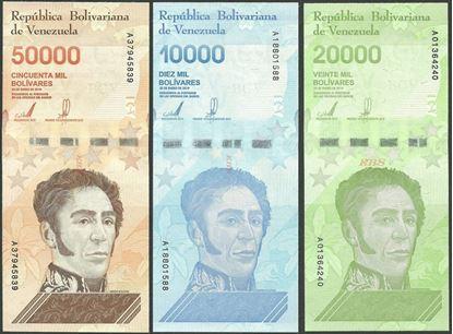 Picture of Venezuela,3 SET - B379-B381,80 000 Bolivares,2019