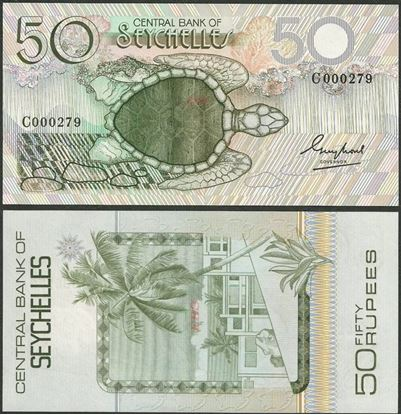 Picture of Seychelles,P30,B403a,50 Rupees,1983