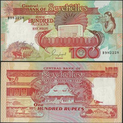 Picture of Seychelles,P35,B408a,100 Rupees,1989,B prefix