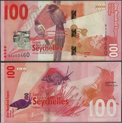 Picture of Seychelles,P50,B421,100 Rupees,2016