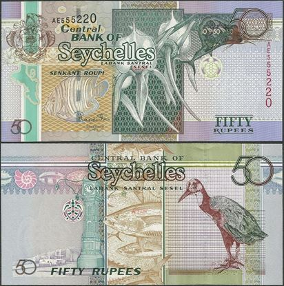 Picture of Seychelles,P43,B416a,50 Rupees,2011