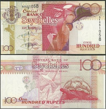 Picture of Seychelles,P40,B414b,100 Rupees,2005