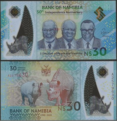 Picture of Namibia,B218,30 Dollars,Comm,2020