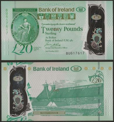 Picture of Northern Ireland,PNL,B138,20 Pounds,2020,Bank of Ireland,AUNC