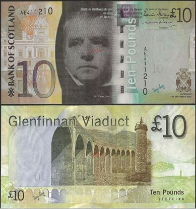 Picture of Scotland,P125a,10 Pounds,2007,BoS