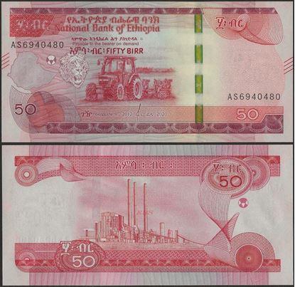 Picture of Ethiopia,B336,50 Birr,2020