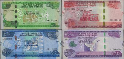 Picture of Ethiopia,4 SET,10-200 Birr,2020