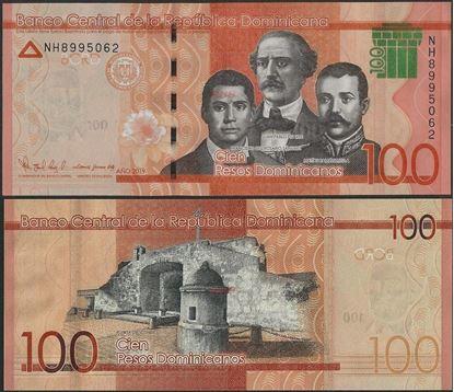 Picture of Dominican Republic,PNew,B728b,100 Pesos Dominicanos,2019