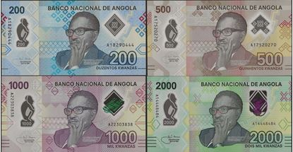 Picture of Angola,4 SET,200-2000 Kwanza,202