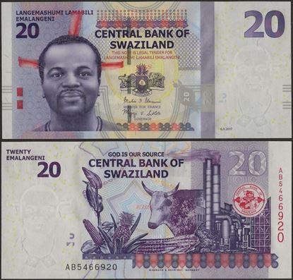 Picture of Swaziland,P37c,B232c,20 Emalangeni,2017
