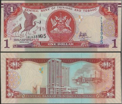 Picture of Trinidad & Tobago,P46A,B228b,1 Dollars,In 2017