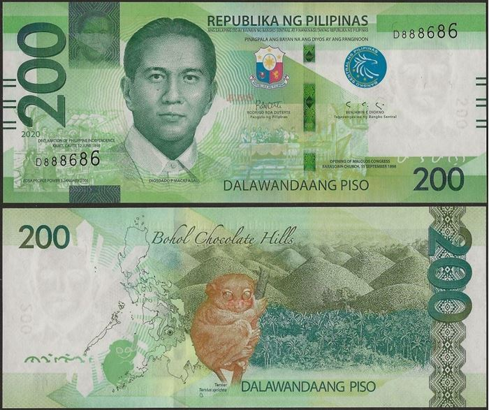 Picture of Philippines,B1092,200 Piso,2020