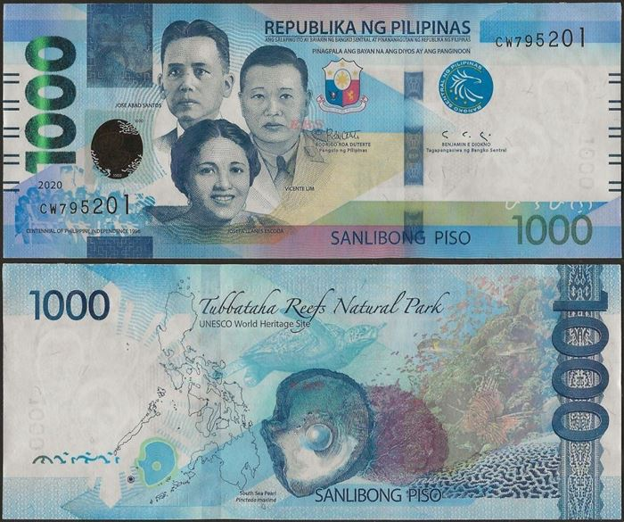 Picture of Philippines,B1094,1000 Piso,2020