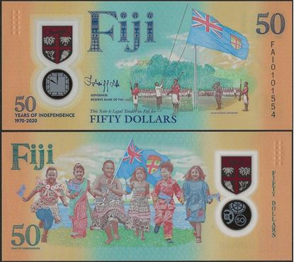Picture of Fiji,B532,50 Dollars,2020,Comm