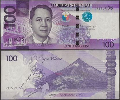 Picture of Philippines,P222,B1086g,100 Piso,2019