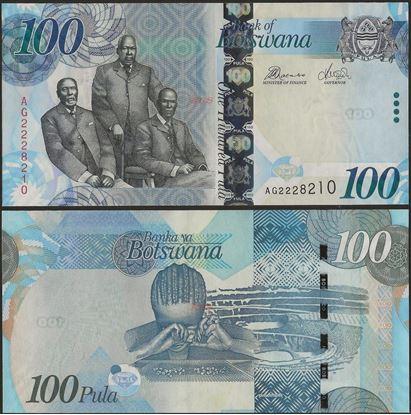 Picture of Botswana,P33c,B127c,100 Pula,2012