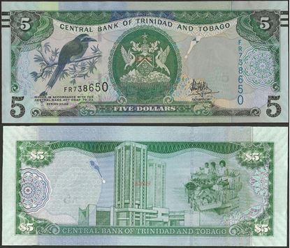 Picture of Trinidad & Tobago,P47c,B229b,5 Dollars