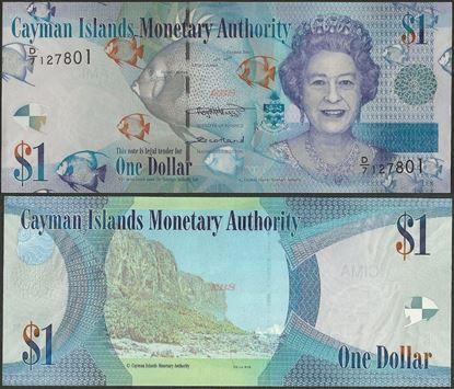 Picture of Cayman Islands,P38c,B218c,1 Dollar,D/7