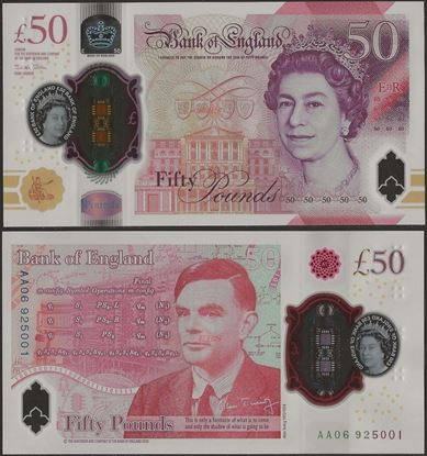 Picture of England,B206,50 Pounds,2021,Polymer,AA Prefix