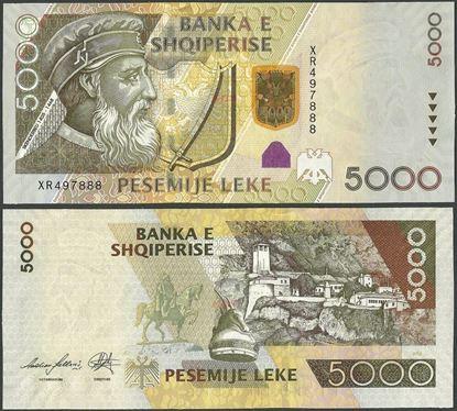 Picture of Albania,P75,B321b,5000 Leke,2013