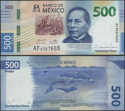 Picture of Mexico,B717b,500 Pesos,2017