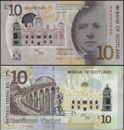 Picture of SCOTLAND,P131,10 POUNDS,2017,BOS,Low serial