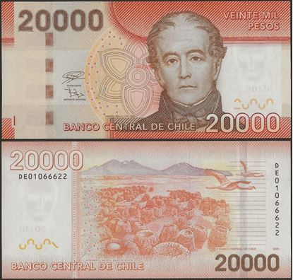 Picture of Chile,P165k,B300k,20000 Pesos,2020