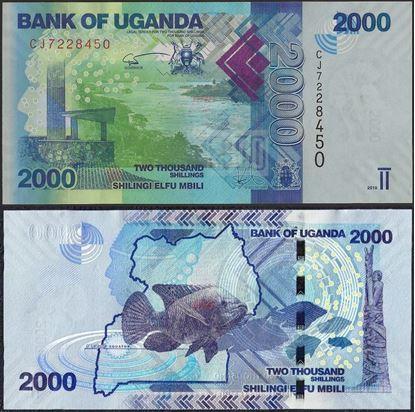 Picture of Uganda,P50e,B155e,2000 Shillings,2019