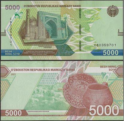 Picture of Uzbekistan,B218,5000 Som,2021