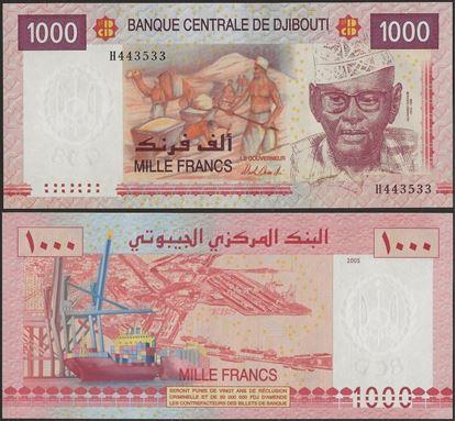 Picture of Djibouti,P42b,B201b,1000 Francs,2005
