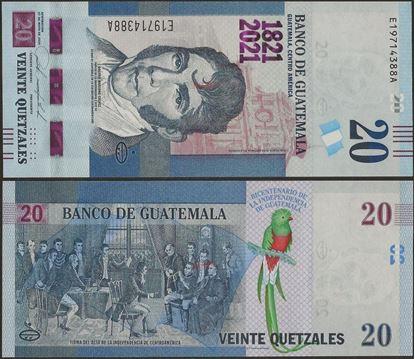 Picture of Guatemala,B610,20 Queztals,2020 ( In 2021)