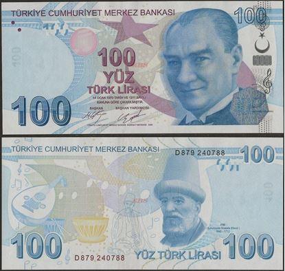 Picture of Turkey,P226c,B304c,100 Lira,D Prefix