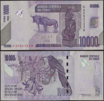 Picture of Congo Dem Republic,P103c, B325c,10000 Francs,2020